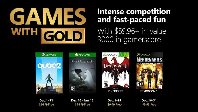 games with gold diciembre 2018